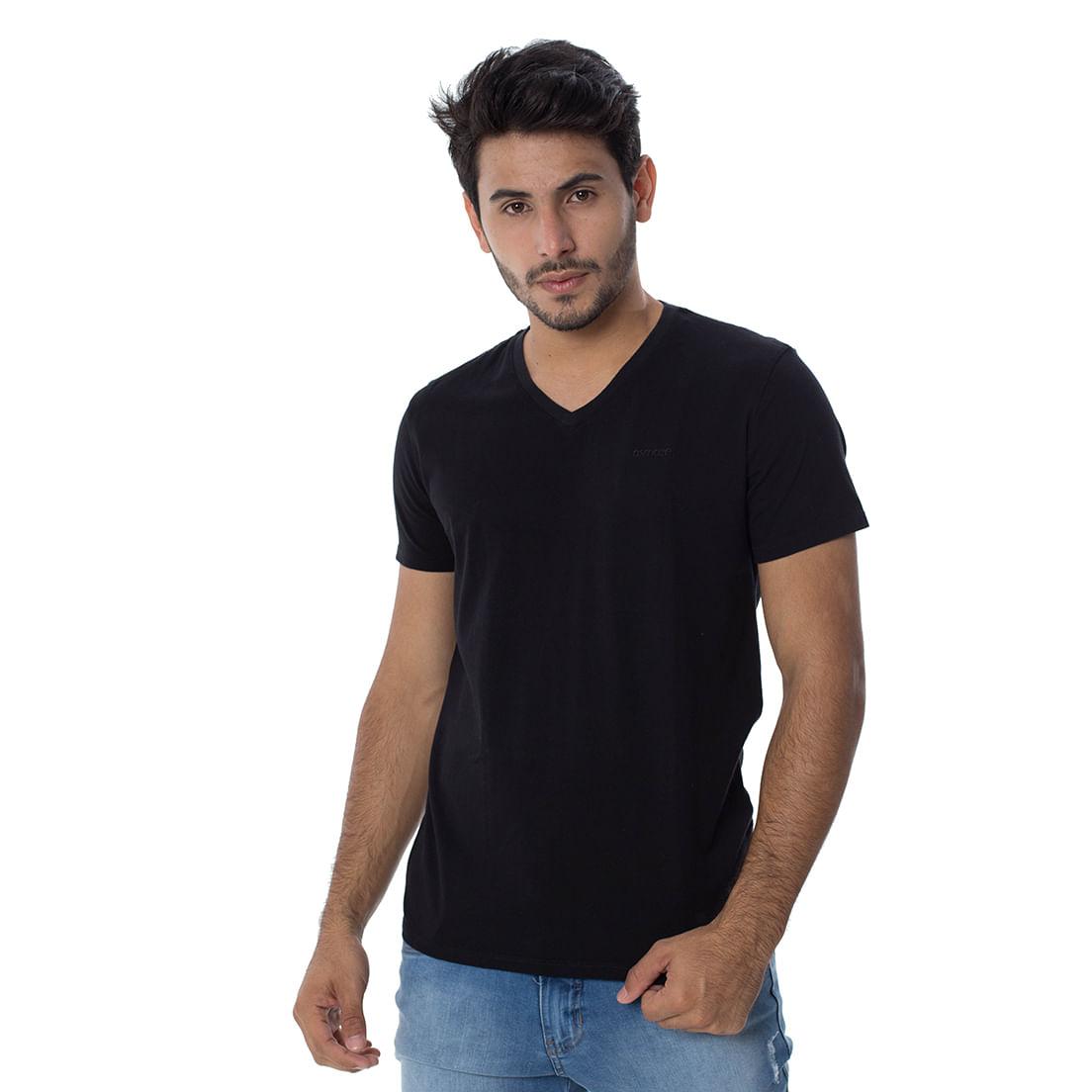 Camiseta Osmoze Gola V Z 110112807 Preto