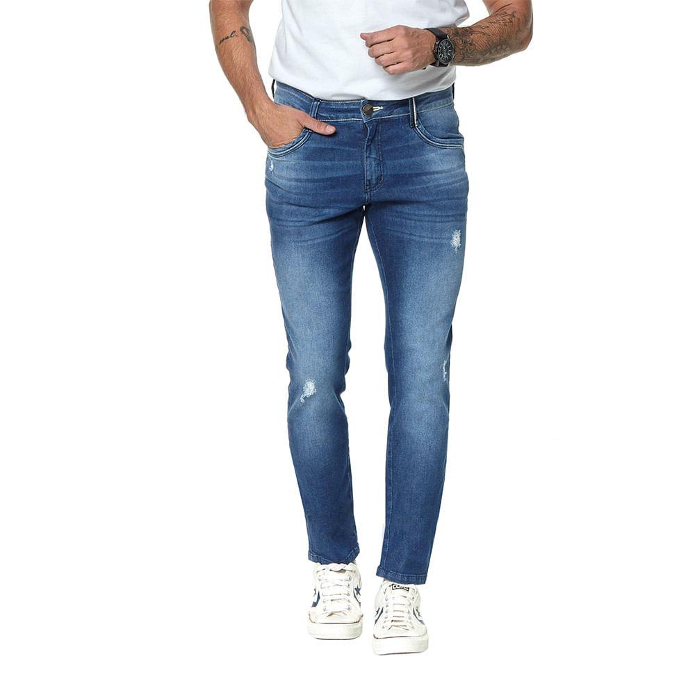 Calça Jeans Denuncia Skinny 101324195 Azul - Azul - 34
