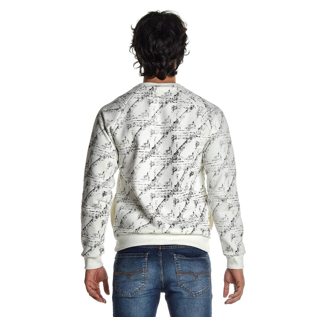Blusa Osmoze Moletom 02 Estampa Total 108120015 Branco