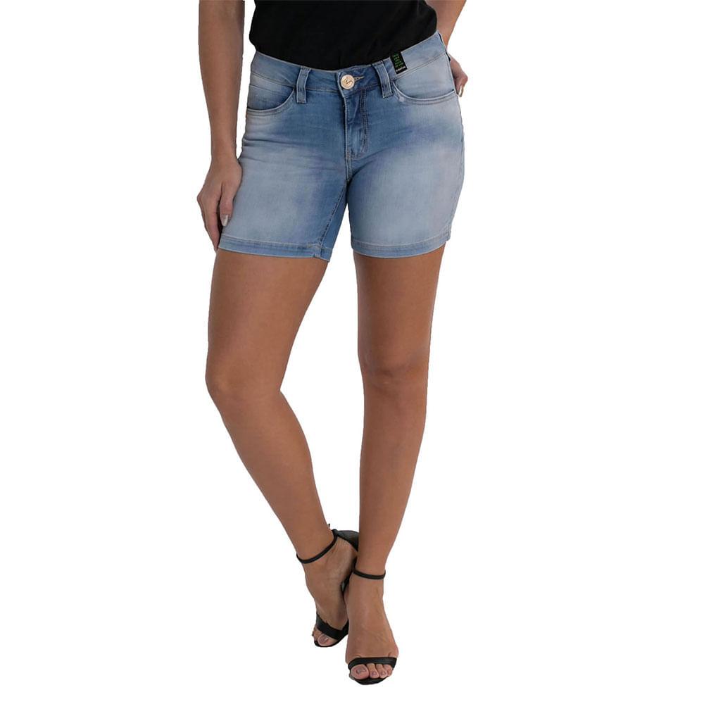 Shorts Jeans Eventual Middle 2045022665 Azul - Azul - 36