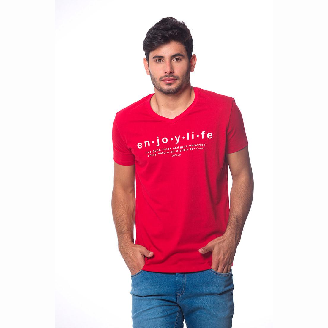 Camiseta Osmoze Gola V 2 110112811 Vermelho