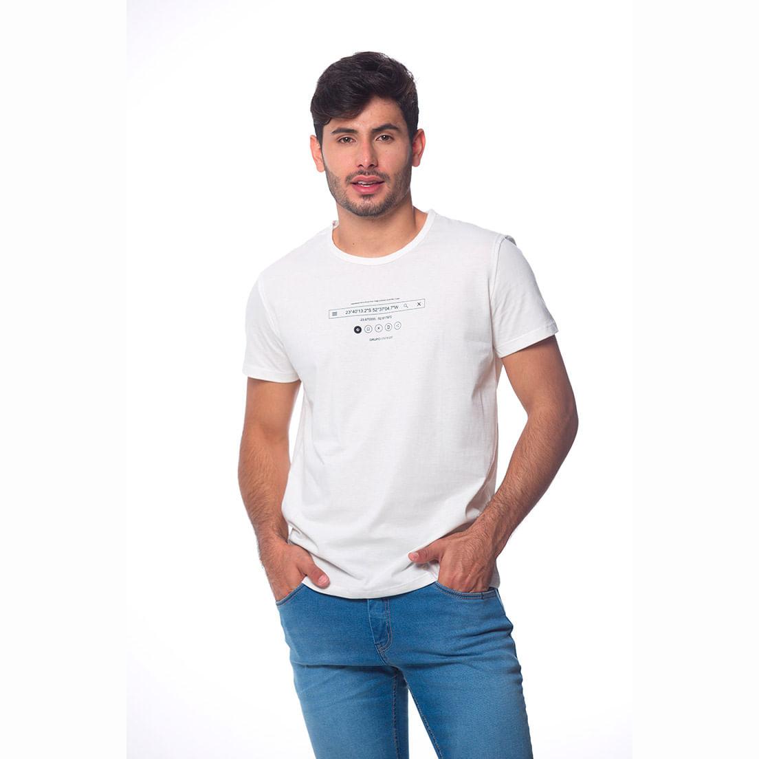 Camiseta Osmoze Sem Ribana 06 110112848 Branco