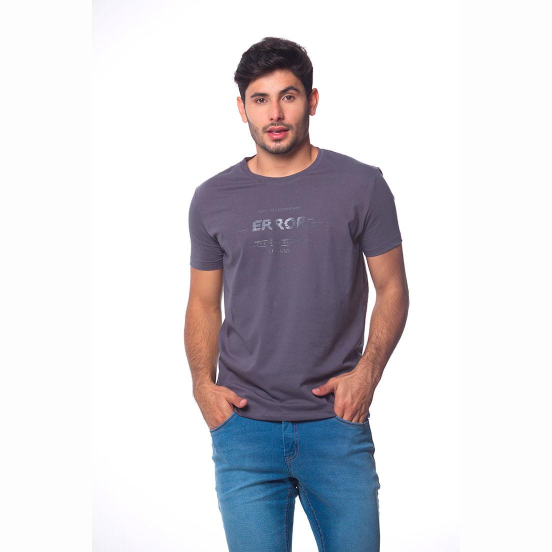 Camiseta Osmoze Error 110112856 Cinza