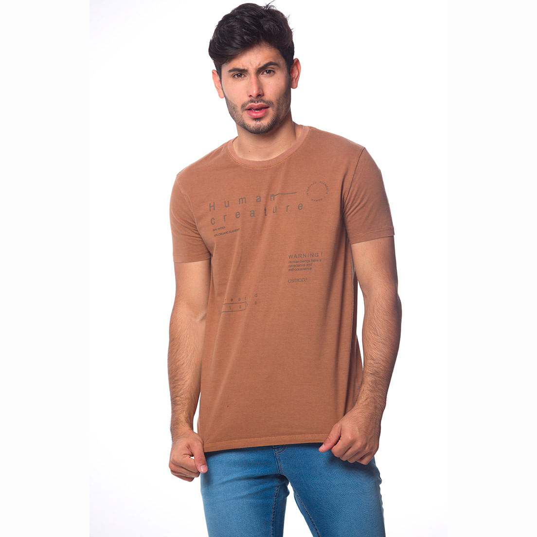 Camiseta Osmoze 32 Lavada 110112861 Marrom