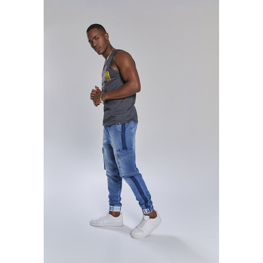Calça Jeans KONDZILLA Jogger 101Kz00010 Azul - Azul - 36