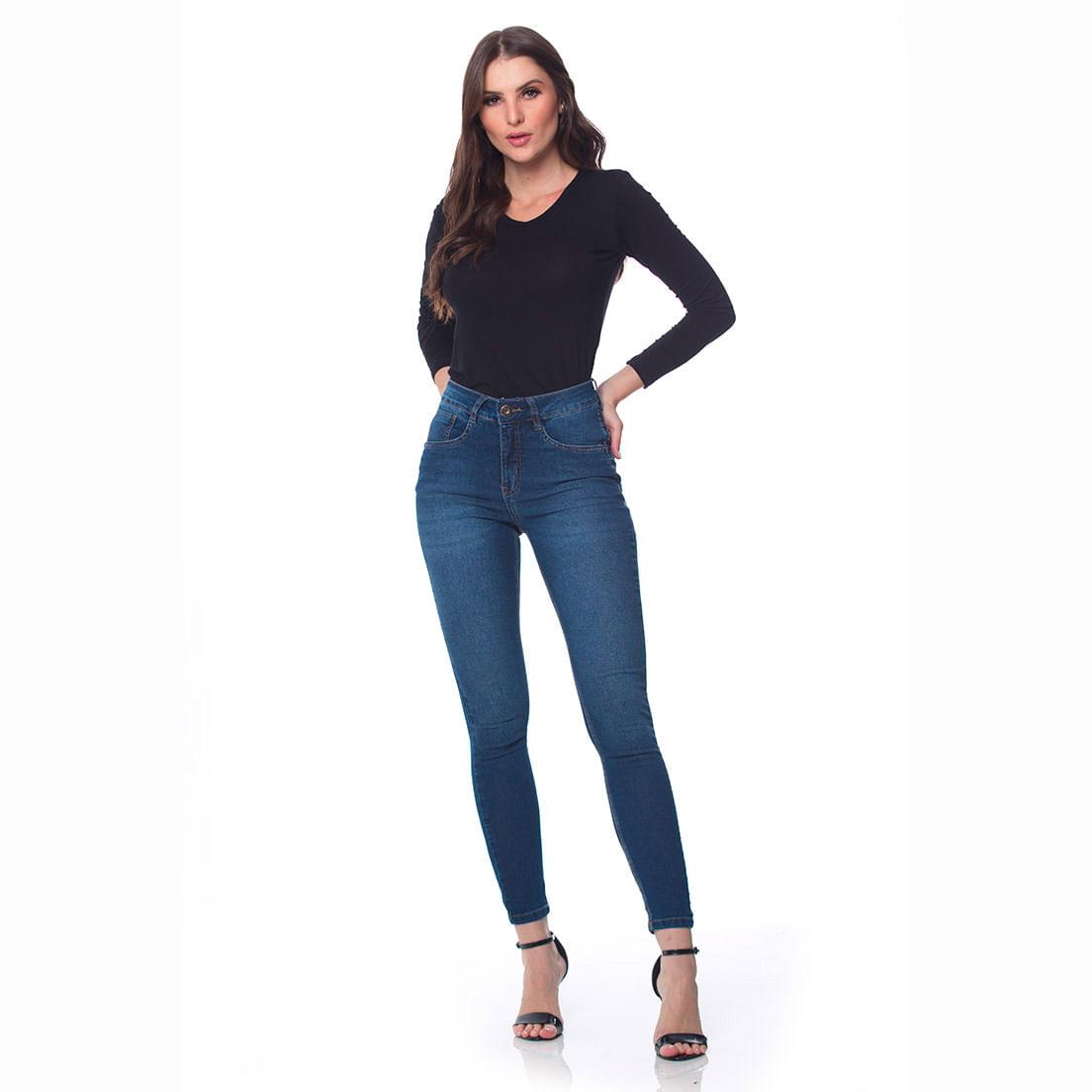 Calça Jeans Osmoze Mid Rise Z 206124186 Azul