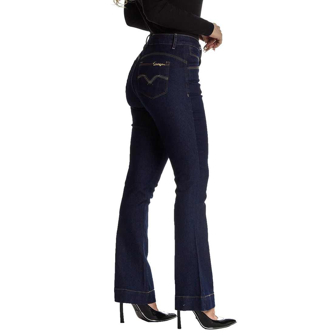 Calça Jeans Osmoze Boot Cut Mid Rise Lille Z 201124302 Azul