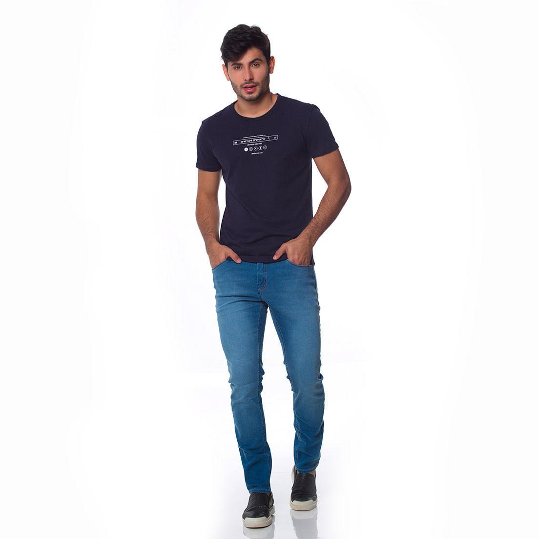 Camiseta Osmoze Sem Ribana 06 110112848 Marinho