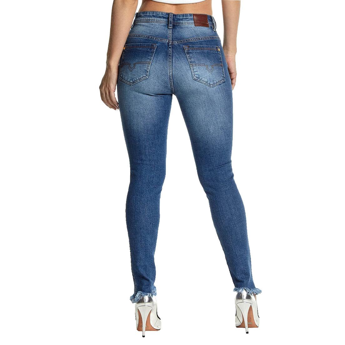 Calça Jeans Osmoze Mid Rise 206124207 Azul