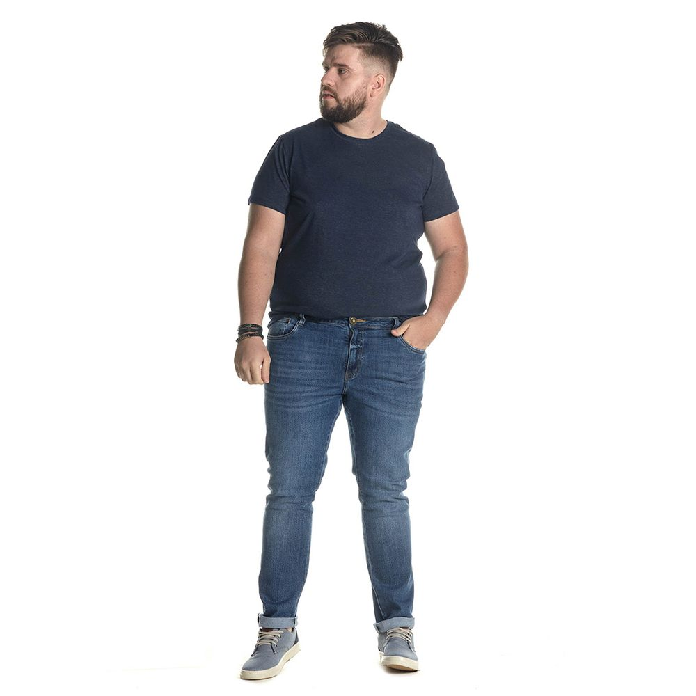 Calça Jeans Denuncia Slim Z 101324236 Azul - Azul - 50
