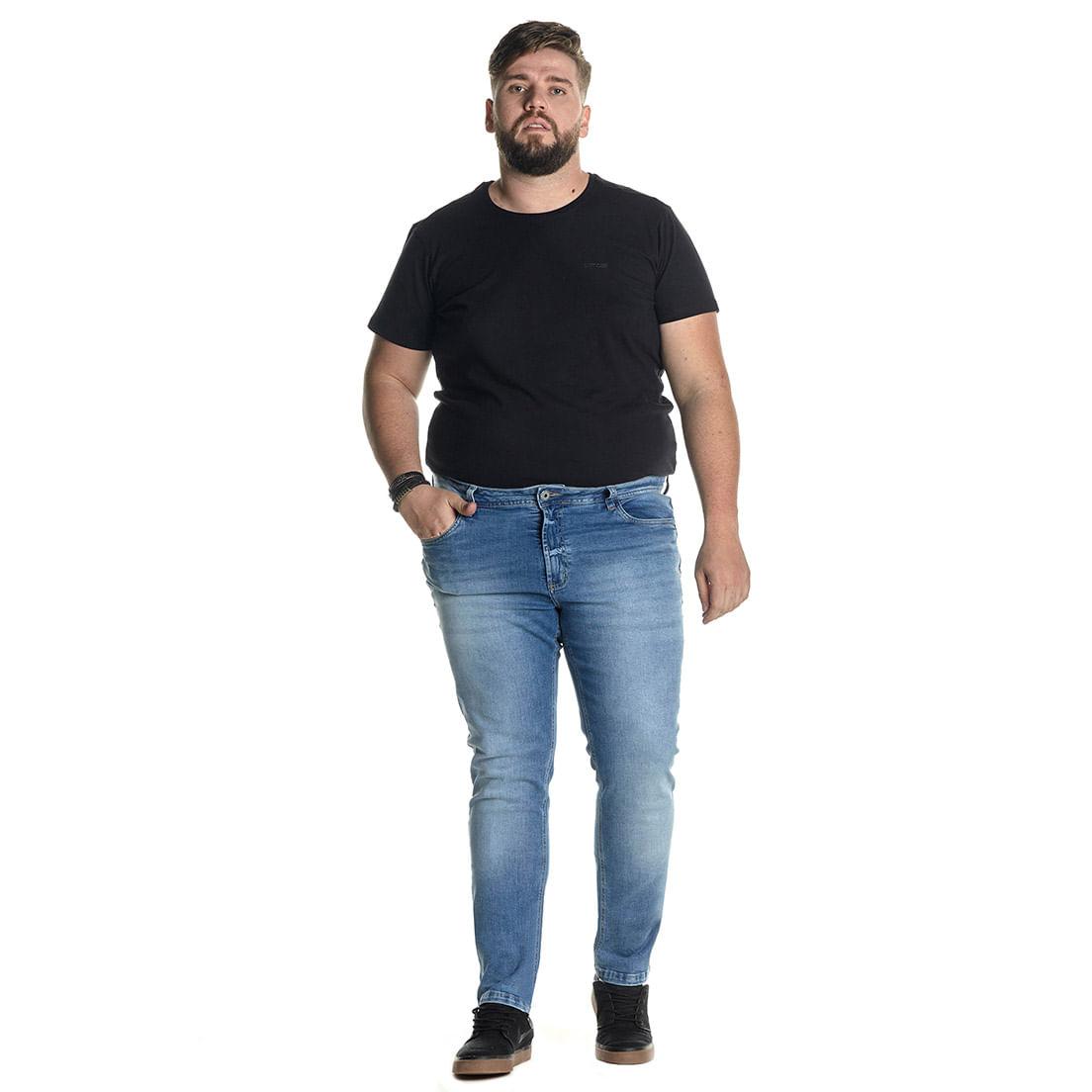 Calça Jeans Denuncia Skinny 101324245 Azul