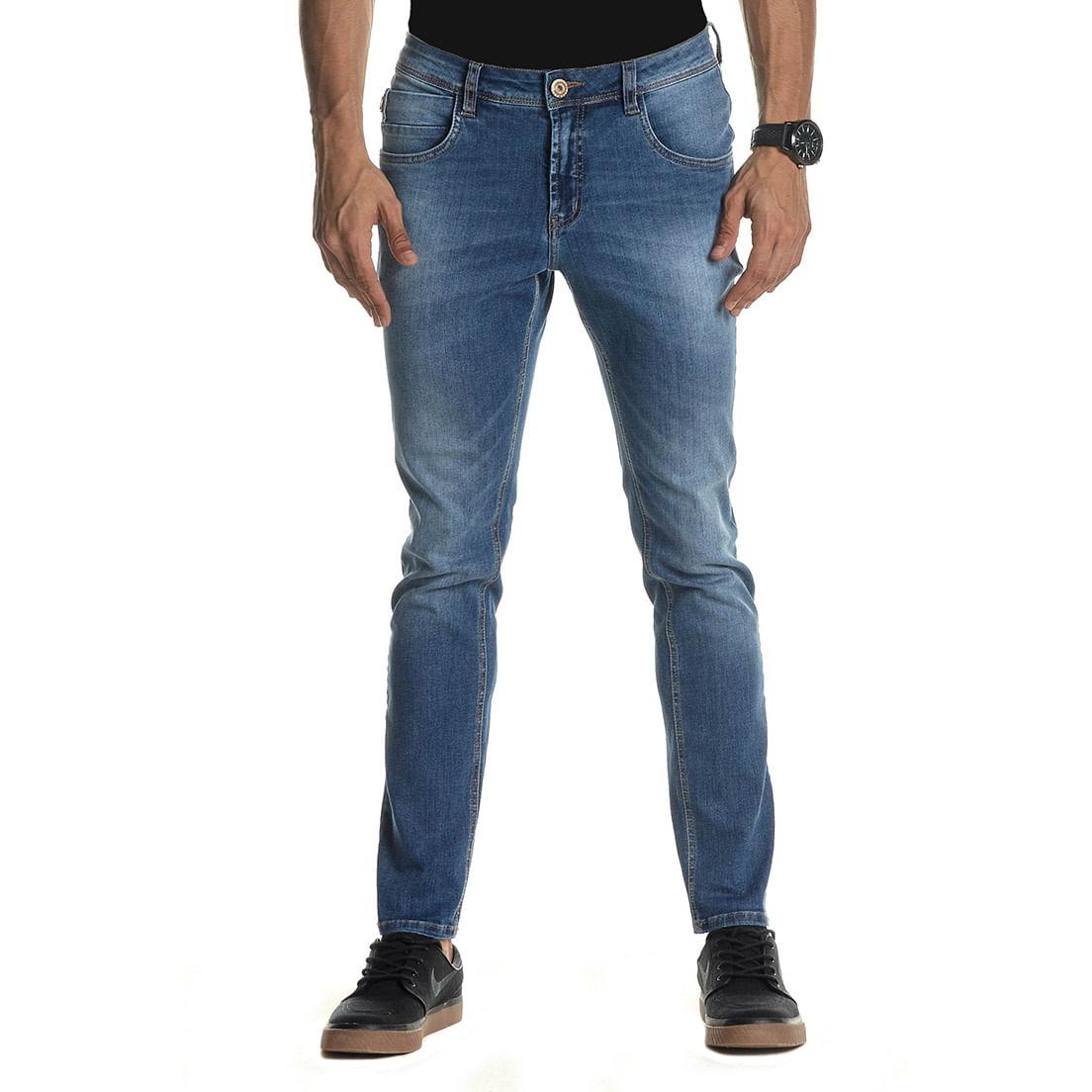 Calça Jeans Denuncia Skinny 101324262 Azul