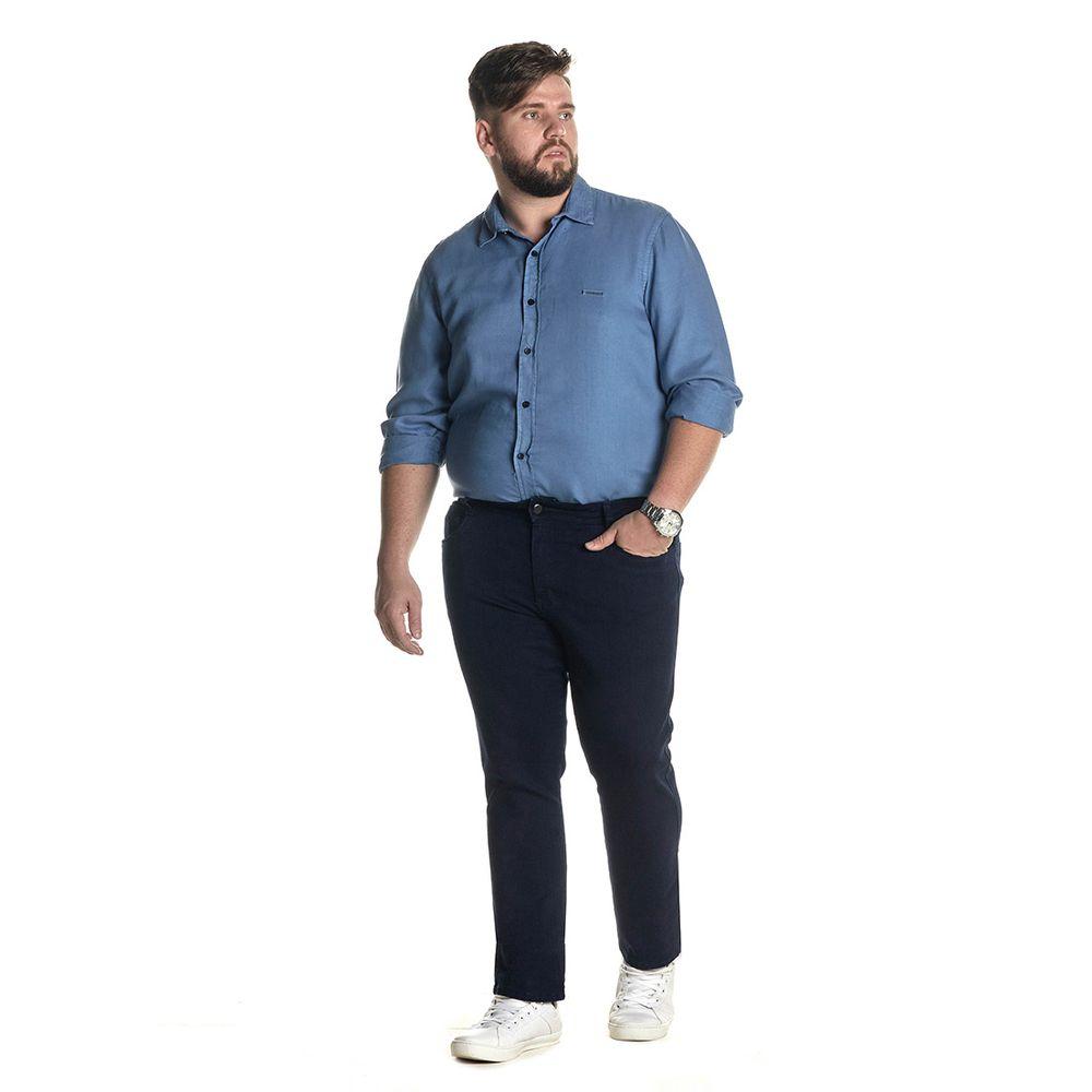 Calça Jeans Denuncia Slim Z 101324234 Azul - Azul - 46