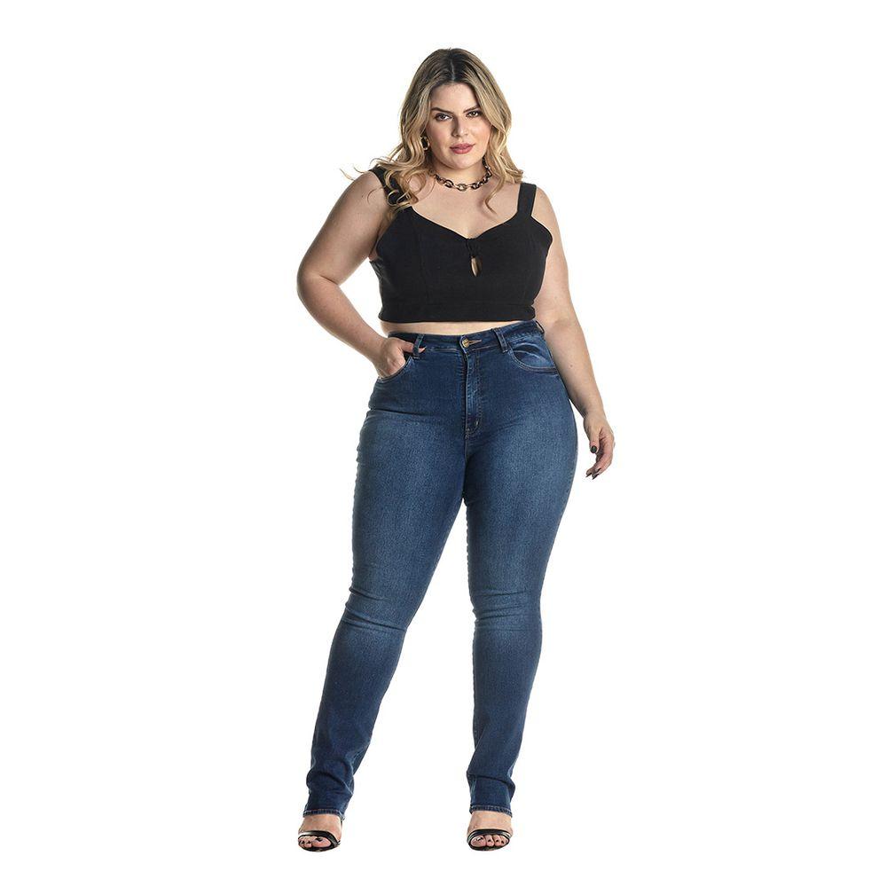 Calça Jeans Denuncia Slim Z 201324280 Azul - Azul - 50