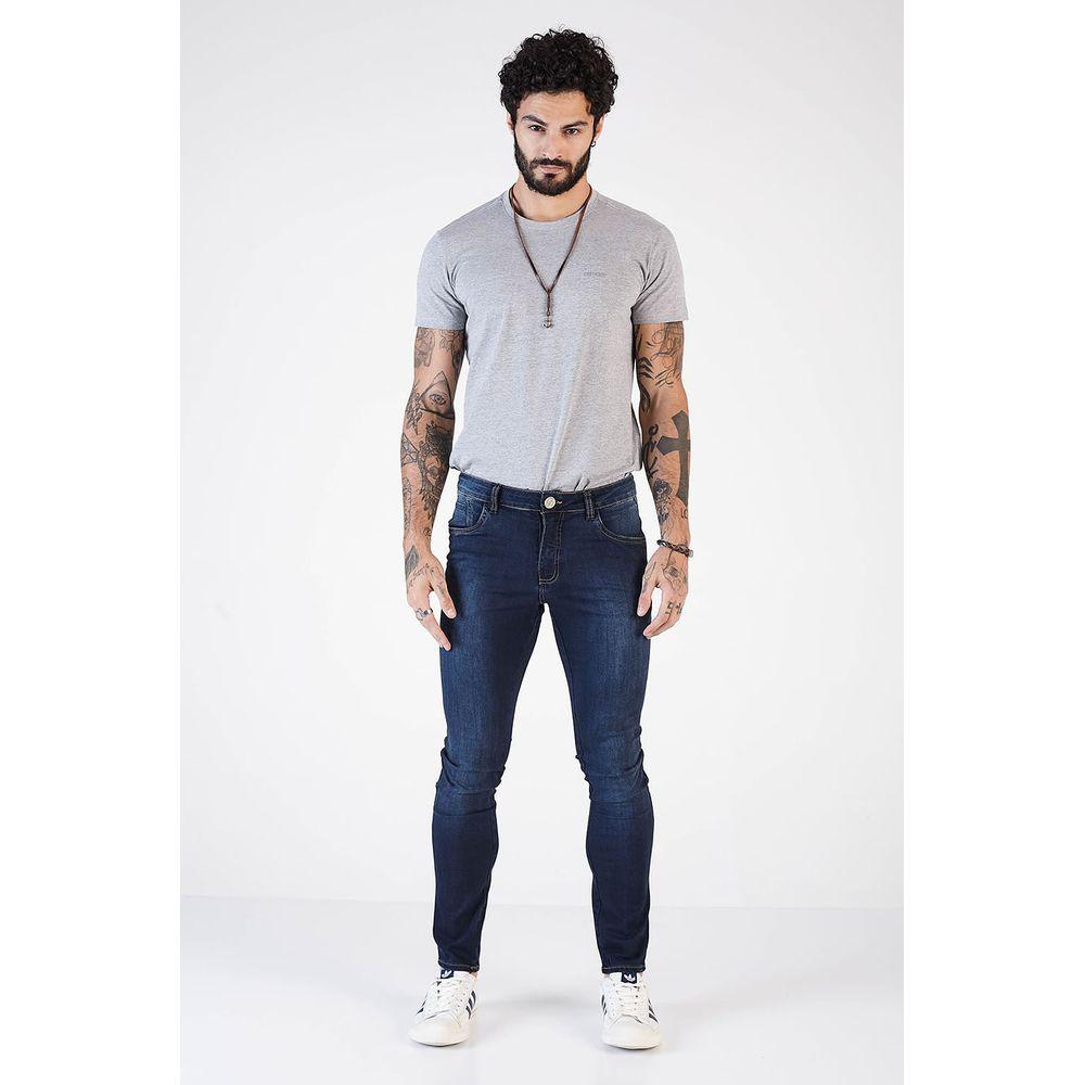 Calça Jeans Denuncia Skinny 101324051 Azul - Azul - 48