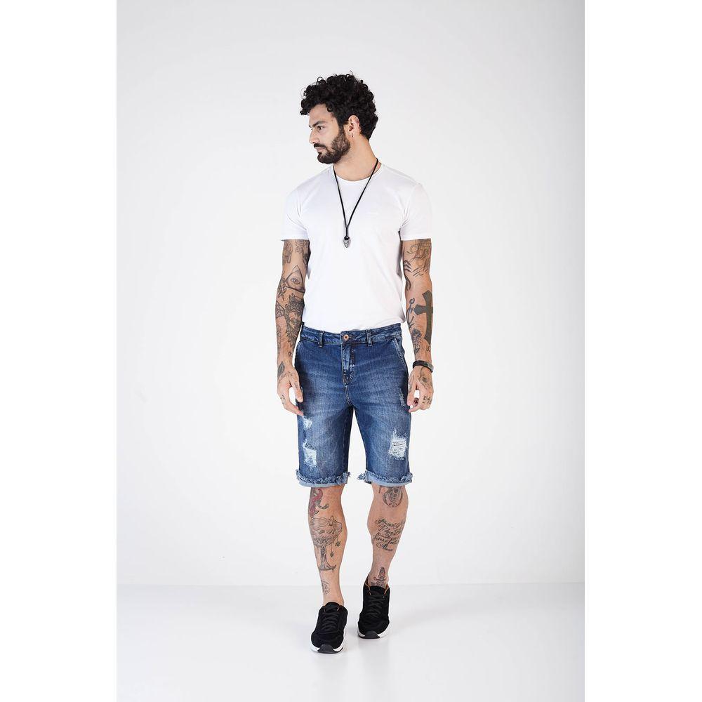 Bermuda Jeans Masculina Denuncia Casual 103324120 Azul - Azul - 38